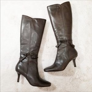 BANDOLINO Flavia brown leather heeled boots